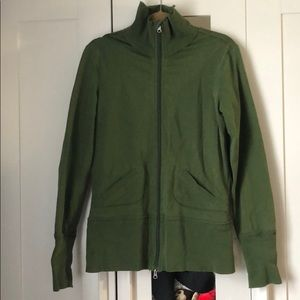 Lululemon zip up sweater with shoulder pads